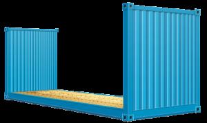 20-футовый контейнер-платформа